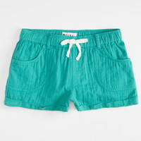 Roxy Sea Sounds Girls Shorts Turquoise  In Sizes