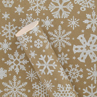 3m kraft white snowflake roll wrapping paper at Paperchase