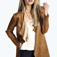 Grace Suedette Waterfall Jacket