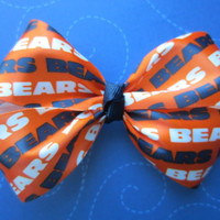 Chicago Bears hair bow  4  4 1/2 inch by Bowsforbaby8 on Etsy