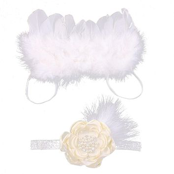 Angel Feather Wings For Newborn Infant Baby Photo Props Party Costume Dress