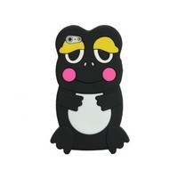 Cute 3D Frog Silicone Skin Case Cover for Apple iPhone 5 6th Black