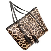 Xiniu Purses And Handbags  Women Handbag Tassel Leopard Shoulder Bag Wallet Leather Messenger Bag Woman Bag 2017