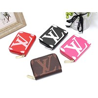 LV 2019 new women's zipper wallet card holder