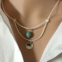 Custom Layered necklace, layered necklace kids, layering necklace, flower girls gift, coordinates, Turquoise, women Personalized jewelry