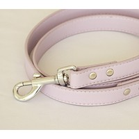 Purple dog Leash, Pet accessory, Lilac Leather leash , Wedding dog collar