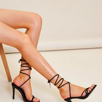 Tie Leg Strappy Stiletto Heels