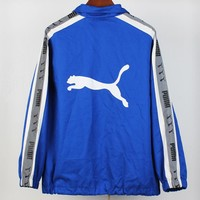 PUMA 2018 autumn and winter new trend men and women models 3D reflective string jacket Blue