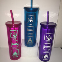 Eat Sleep Disney 16oz Double Wall Tumbler/ Any Color Decal