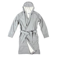 REIGNING CHAMP HOODED ROBE – EMBROIDERED - HEATHER GREY | Reigning Champ