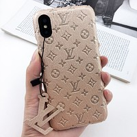 LV Louis Vuitton Fashion New Monogram Leather New Protective Case Phone Case