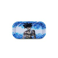 Metal Rolling Tray - Blue Camo Fighter (Slim)