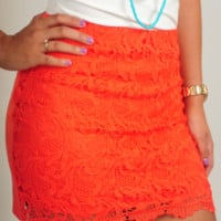 All The Lovers Skirt: Bright Coral   Hope's