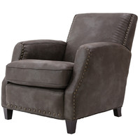Michael Anthony Furniture Sarntac Club Chair, Palance Charcoal