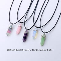 24 design natural green aventurine opal quartz crystal pendant black leather hexagon pendant chrysocolla choker necklace jewelry