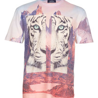 LION LANDSCAPE T-SHIRT - TOPMAN USA