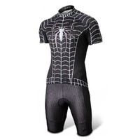 Spider-man Black Costume Cycling Kits Bicycle Suit Short Jersey