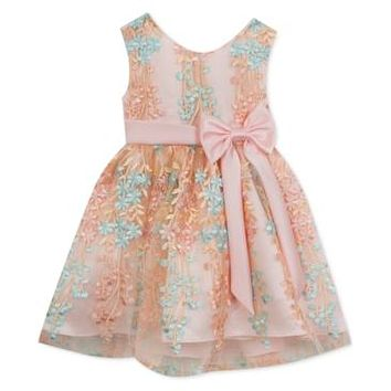 Rare Editions Baby Girls Embellished Party Dress 12 Months