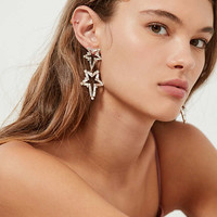 ZHUU Crystal Star Statement Earring | Urban Outfitters