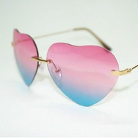 Love Star Sunglasses Heart-Shaped Sunglasses