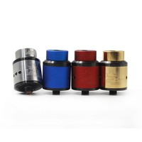Newest 528 Goon Lost Art Edition RDA Atomizer 24MM Goon Lostart 24 MM with Wide Bore Drip Tip Peek Insulators Fit 510 Mods