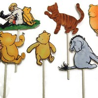 Winnie The Pooh Cupcake Toppers Food Picks, Birthday Party Decorations,Winnie the Pooh Party,Pooh Birthday Party,Winnie The Pooh Baby Shower | Toad Hollow
