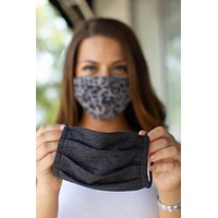 Z Supply Face Mask (2 Pack) - Leopard + Gray