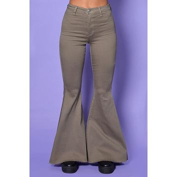 Work it Out Khaki Super Flares