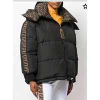Fendi Warm Winter women's Down Jacket  Windproof Hooded Collar