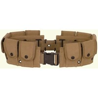 Ultimate Arms Gear Tactical Khaki Tan 10 Pocket Utility Pouch Cartridge Ammo Tool Heavy Duty Cotton Canvas Belt