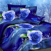 Hot! Now Flowers 3d bedding set,bed linen,bedding-set,family set. 4pcs Contains: quilt /bed  sheets / pillowcases.king size