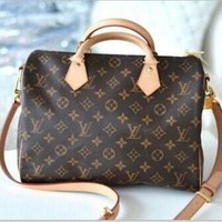 LV Louis Vuitton Trending Women Fashion Print Shopping Leather Tote Handbag Shoulder Bag I