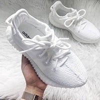 "Adidas Yeezy Boost 350 V2 ""Triple White"" Sneakers Shoes"