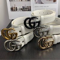 Gucci plain belt black belt
