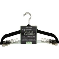 Simplify Velvet Suit Hanger with Clips, 6 Pack - Walmart.com