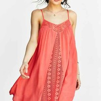 Band Of Gypsies Gauzy Crochet-Inset Frock Dress