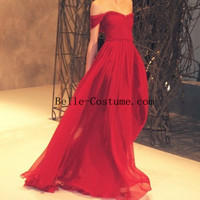 Red Prom Dress, Red Prom Dresses, Off Shoulder Prom Dresses
