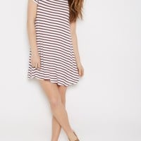 Burgundy Striped Ringer Dress | Casual Dresses | rue21