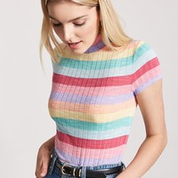 Ribbed Multistripe Top