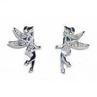 Sterling Silver Tinker Bell Crystal Stud Earrings From Disney Couture : TruffleShuffle.com