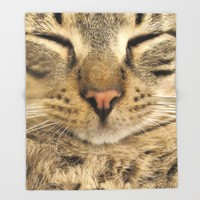 Cat Throw Blanket by Deadly Designer
