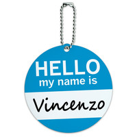 Vincenzo Hello My Name Is Round ID Card Luggage Tag