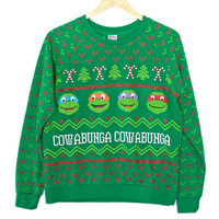TMNT Teenage Mutant Ninja Turtles Tacky Ugly Christmas Sweatshirt