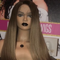 Custom Color Full Lace Wig- Mink Straight