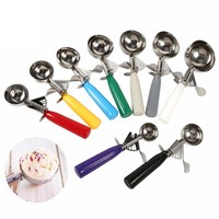 Stainless Steel Ice Cream Scoop Ice Ball Maker Ice Cube Frozen Cookie Dough Meat Balls Rice Dishes Ice Cream Spoon Kitchen Tools