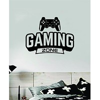 Gaming Zone v2 Controller Video Game Decal Sticker Wall Vinyl Decor Art Home Bedroom Room Classic Nerd Teen Funny Gamer Kids Baby Xbox Ps4