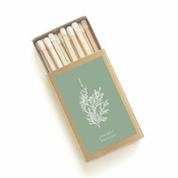 Juniper Berries Botanical Matchbox - Herbal Print Matches - Pair with a Candle - Home Decor - Unique Party Favors - Light a Summer Spark