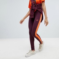 Puma Classics Logo T7 Legging In Burgundy at asos.com