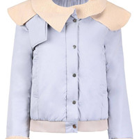 Jacket with Oversize Collar