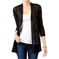 Charter Club Womens Knit 3/4 Sleeves Cardigan Top